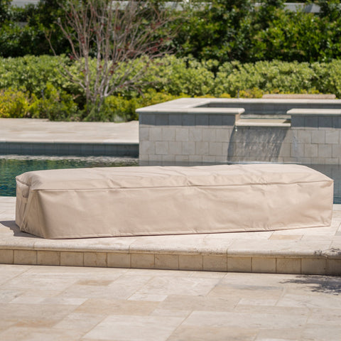 Outdoor Beige Waterproof Fabric Lounge Set Cover - NH181103