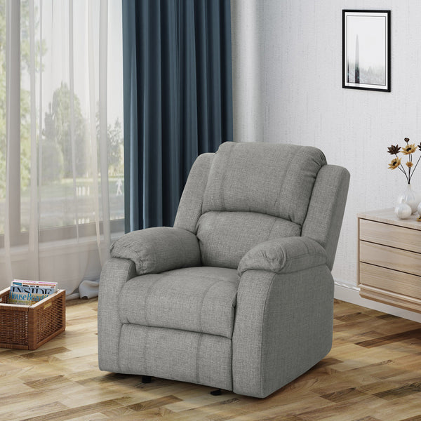 Contemporary Pillow Top Fabric Upholstered Gliding Recliner Chair - NH483403