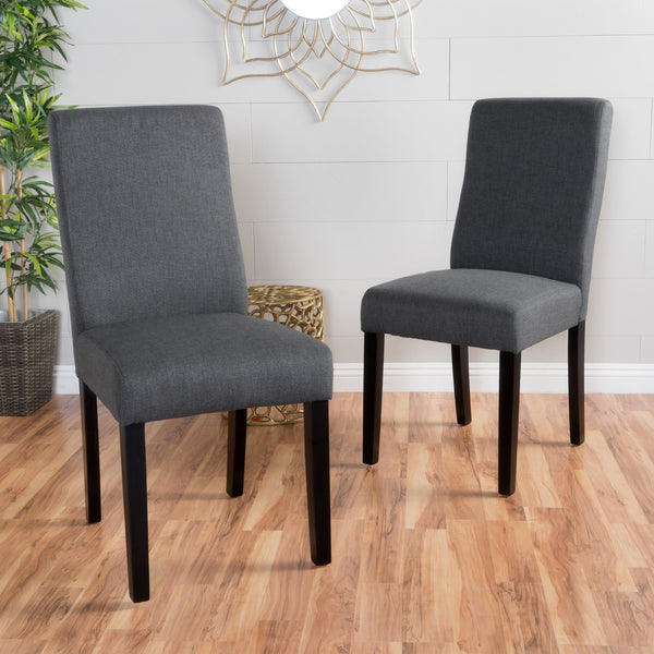 High Back Upholstered Fabric Dining Chairs (Set of 2) - NH505992