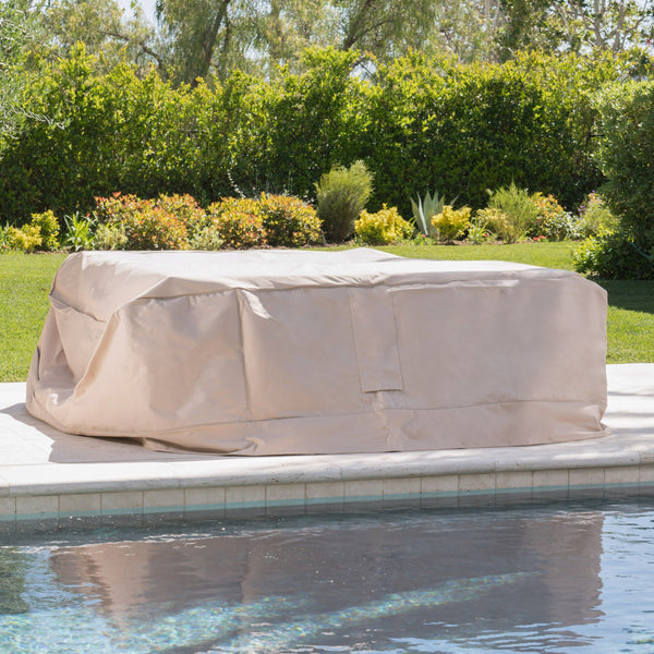 Outdoor Beige Waterproof Fabric Chat Set Cover - NH515003