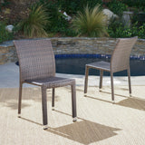 Outdoor Wicker Armless Stack Chairs With Aluminum Frame - NH132103