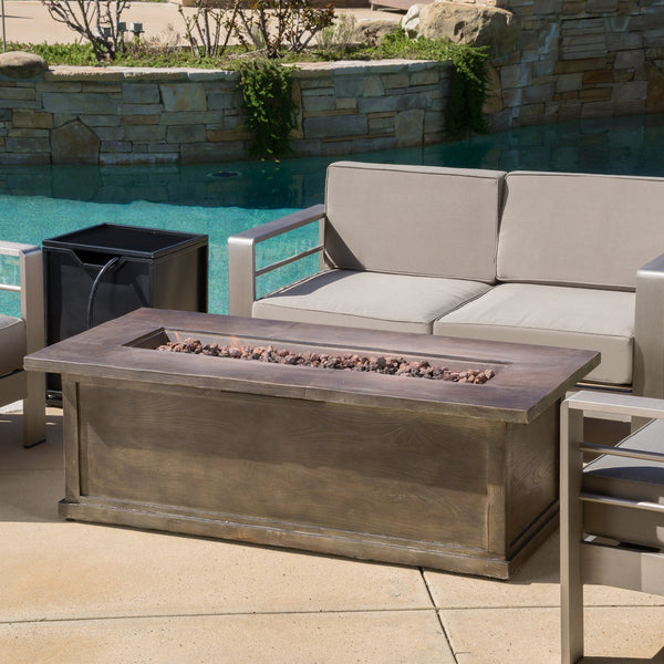 Outdoor 56-inch Rectangular Propane Fire Table - NH866692