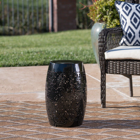 Outdoor 12-inch Iron Side Table - NH757303