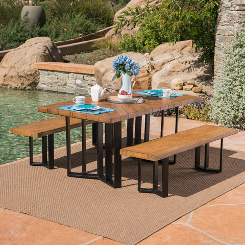 Outdoor 3 Piece Light Weight Concrete Picnic Set - NH501403