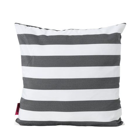 Indoor Striped Water Resistant Square Throw Pillow