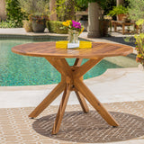 Outdoor Acacia Wood Round Dining Table - NH645003