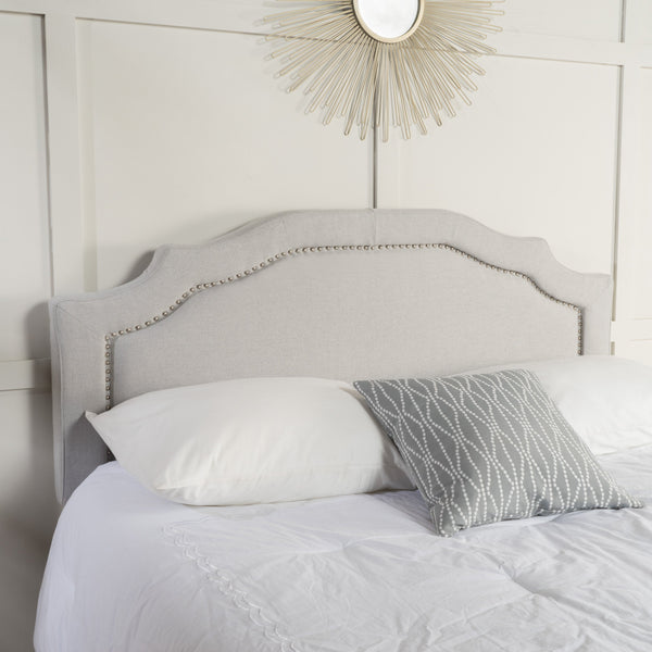 Light Grey Fabric Queen/ Full Headboard - NH584893