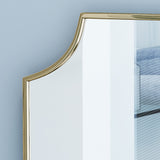 Glam Wall Mirror with Gold Finished Stainless Steel Frame - NH657303