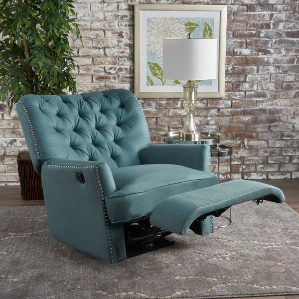 Tufted Fabric Power Recliner Chair - NH009103