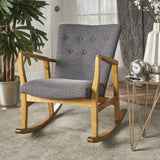 Mid Century Fabric Rocking Chair - NH399103