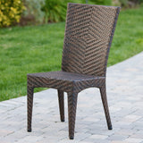 Outdoor Multibrown Wicker 3pc Bistro Set - NH696592