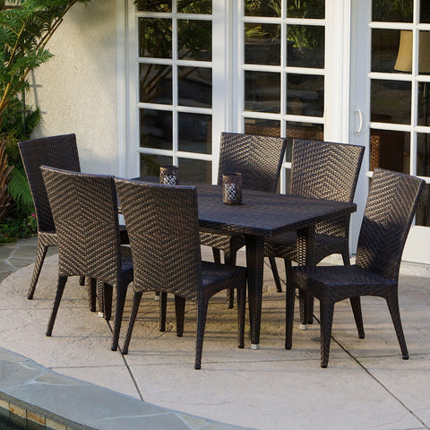 7-pieces Outdoor Wicker Dining Set - NH464232