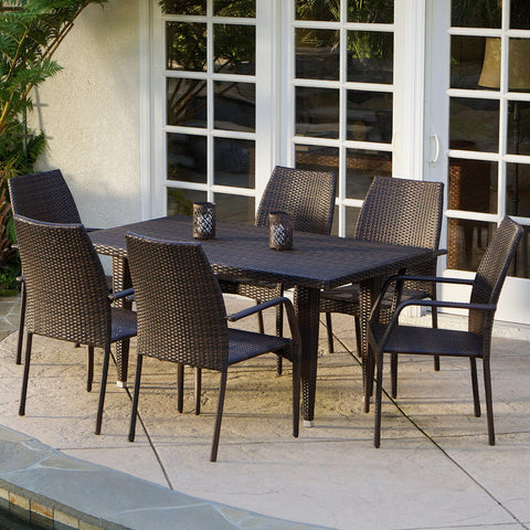 7-Piece Outdoor Wicker Dining Set - NH591832