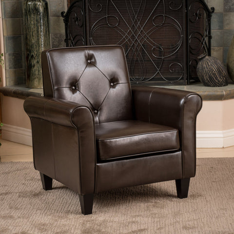 Brown Leather Club Chair - NH756832