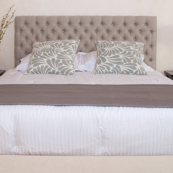 Meyers Queen Button Tufted Fabric Headboard