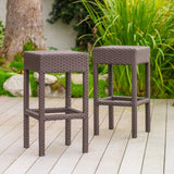 28-Inch Outdoor Backless Bar Stools (Set of 2) - NH053932