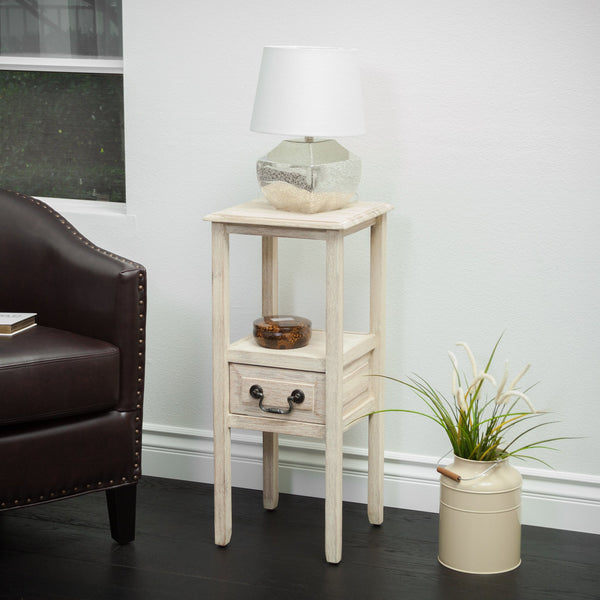 Cannon Reclaimed Accent Table w/ Bottom Drawer