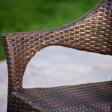 Outdoor 3pc Multibrown Wicker Bistro Set - NH496592