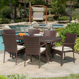 Outdoor 7-piece Wicker Dining Set with Cushions - NH828592