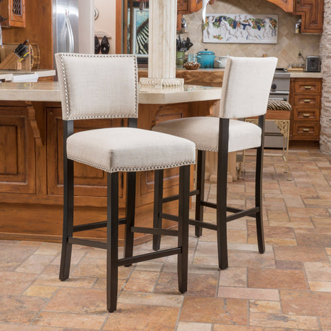 31-Inch Bonded Fabric Backed Barstool (Set of 2) - NH579592