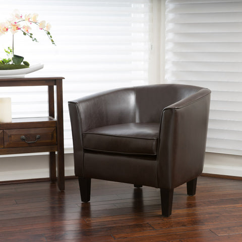 Brown Leather Club Chair - NH901692