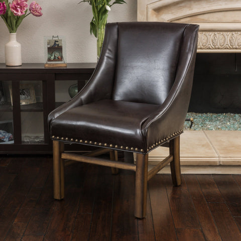 Bonded Leather Upholstered Dining Chair - NH755692