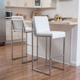 30-Inch Bonded Leather Barstool (Set of 2) - NH416692