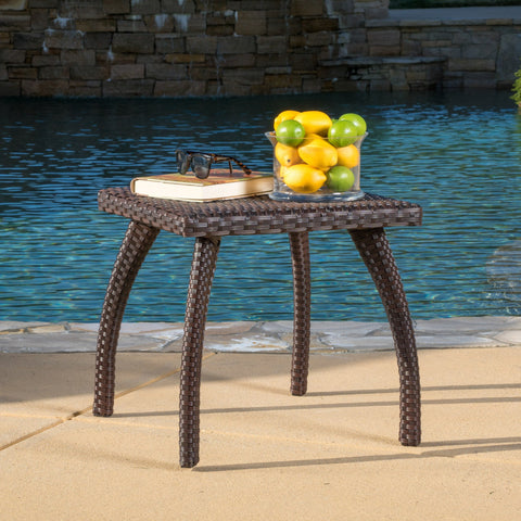 Gould Outdoor Wicker Side Table - NH727692