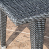Grey Wicker Outdoor Patio Table - NH967692