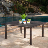Outdoor 64 Inch Wicker Square Dining Table - NH898303