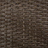 Outdoor L-shape Brown Wicker Sofa w/ Cushions - NH109992