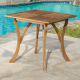 Outdoor Patio Square Acacia Wood Table - NH391893