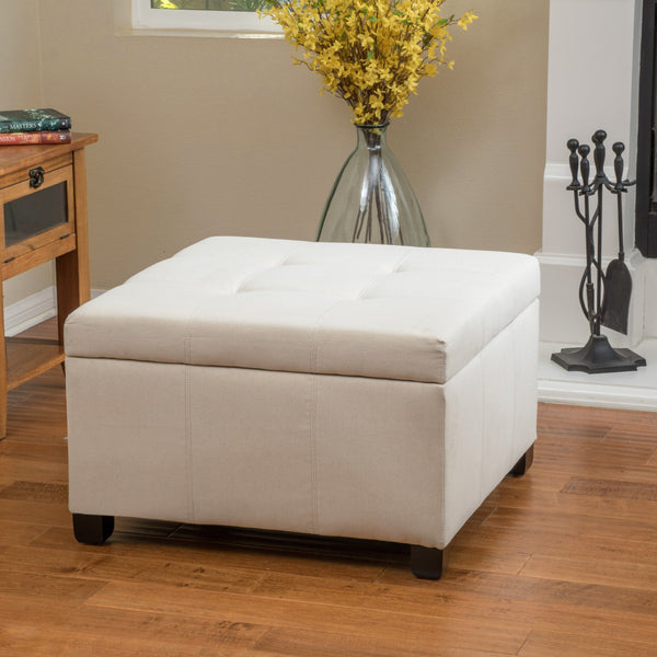 Fabric Square Storage Ottoman Coffee Table - NH938692