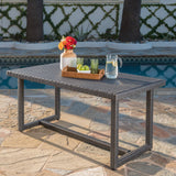 Outdoor 59 Inch Wicker Dining Table - NH714303