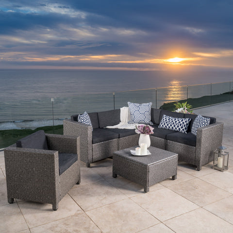 6-Seater Outdoor Sectional with Coffee Table - NH096003