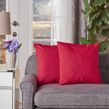 Indoor Red Water Resistant Square Throw Pillow - NH309203