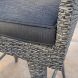 30-Inch Outdoor Gray Wicker Barstool (set of 2) - NH820992
