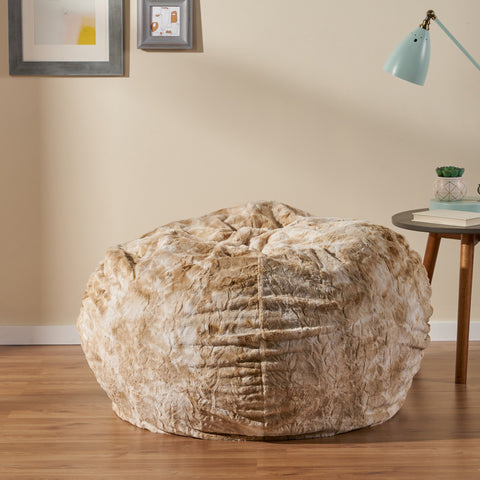 3 Ft Shag Fur Beanbag - NH462592