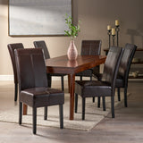 T-stitched Leather Dining Chairs (Set of 6) - NH368892
