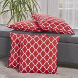 Modern Quatrefoil Pattern Fabric Accent Throw Pillow (Set of 4) - NH451303