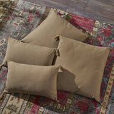Fabric Tassel Square and Rectangular Throw Pillow - Set of 4 - NH641303