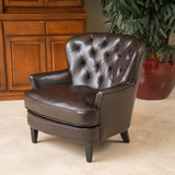 Tufted Leather Club Chair - NH956832