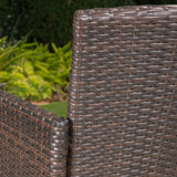 28-Inch Contemporary Outdoor Multibrown Wicker Barstool (Set of 4) - NH629892