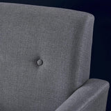 Mid Century Modern Button Tufted Upholstered Fabric Club Chair - NH442303