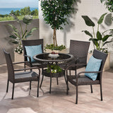 Outdoor Multibrown Wicker  5pc Dining Set - NH886592
