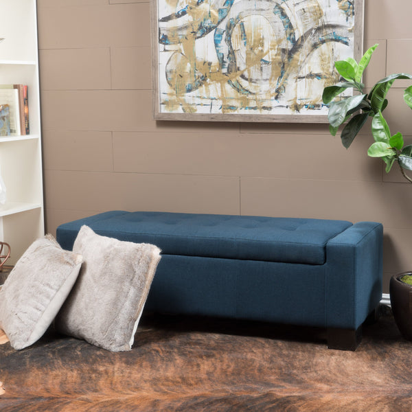 Tufted Fabric Storage Ottoman Bench - NH005992