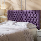 Contemporary Button Tufted Fabric Queen/Full Headboard - NH309892