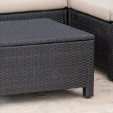 Outdoor 13 Pc Wicker Patio Set w/ Water Resistant Cushions - NH764003