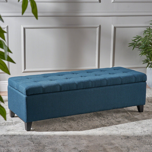 Tufted Fabric Storage Ottoman Bench - NH234992