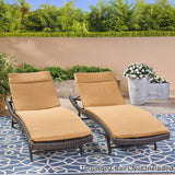Outdoor Water-Resistant Fabric Chaise Lounge Cushions (Set of 2) - NH424612